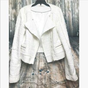 J. Brand White moto jacket